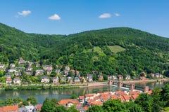 Heidelberg Hills Green Landscape Heiliggeistkirche German Destin Royalty Free Stock Photos