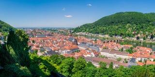 Heidelberg Hills Green Landscape Heiliggeistkirche German Destin Stock Photo