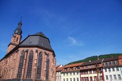 Heidelberg kyrka royaltyfri foto