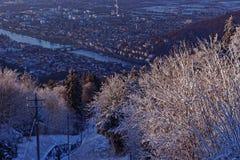 Heidelberg miasta krajobraz w zimie Obraz Stock