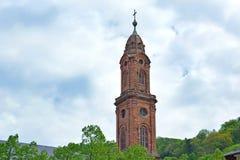 Heidelberg, Niemcy - wierza stary kościół dzwonił «Jesuitenkirche « obrazy stock