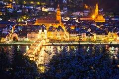 Heidelberg at night. Germany Royalty Free Stock Image