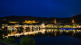 Heidelberg at night Royalty Free Stock Photo