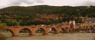 Heidelberg : Old Bridge and castle Stock Photos