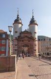 Heidelberg Old Bridge. Heidelberg, Germany - July 16, 2015: Famous Old Bridge of Heidelberg Royalty Free Stock Images