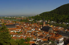 Heidelberg - old town (Altstadt), view from above Stock Photography