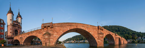 Heidelberg Panorama. Panorama taken at the Old Bridge in Heidelberg, Germany Royalty Free Stock Photography
