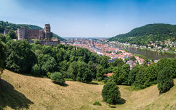 Heidelberg Panorama. Panorama taken from the Scheffelterrasse at the castle Royalty Free Stock Photography