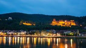 Heidelberg przy nocą zdjęcie stock