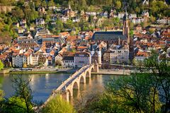Heidelberg przy wiosna fotografia stock