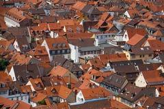 Heidelberg roofs. Above Heidelberg roofs, german architecture Stock Image