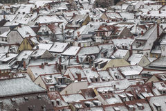 Heidelberg rooftops in winter Stock Photo