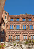 Heidelberg Ruins. View of the so called Ottheinrichs building of Heidelberg Castle, Baden-Wuerttemberg, Germany Royalty Free Stock Photography