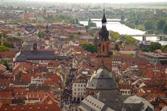 Heidelberg's view from above, Germany Stock Photography