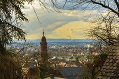 Heidelberg, schitterende cityscape stock foto