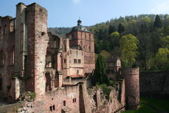 Heidelberg-Schloss Lizenzfreies Stockfoto