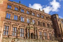 Heidelberg-Schlosswand Stockfoto