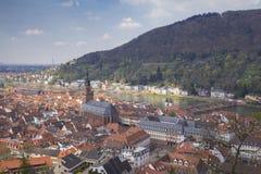 Heidelberg sikt från den Heidelberg slotten Royaltyfria Foton