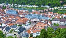 Heidelberg sikt - gammal Town Arkivfoto