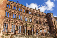 Heidelberg slottvägg Arkivfoto