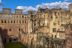 Heidelberg slottyttersida Royaltyfri Foto
