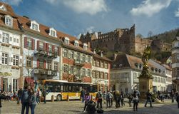 Heidelberg Square, Germany stock photo