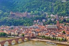 Heidelberg stad Fotografering för Bildbyråer