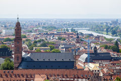 Heidelberg, stad op de Rivier Neckar Stock Afbeeldingen