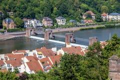 Heidelberg, stad op de Rivier Neckar Royalty-vrije Stock Foto