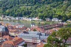 Heidelberg, stad op de Rivier Neckar Royalty-vrije Stock Fotografie