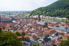 Heidelberg, stad op de Rivier Neckar Stock Fotografie