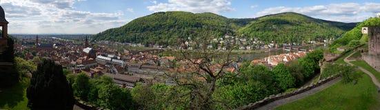 Heidelberg-Stadtpanorama, Deutschland lizenzfreie stockfotografie