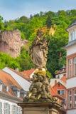 Heidelberg-Statue in der alten Stadt Lizenzfreies Stockbild