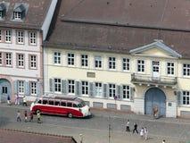 Heidelberg street and retro bus Royalty Free Stock Image