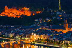 Heidelberg in a summer night Royalty Free Stock Photos