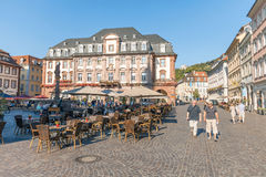 Heidelberg Town Hall. Heidelberg, Germany - July 16, 2015: Old Town Hall and Market Square at the old town district of Heidelberg Royalty Free Stock Photo