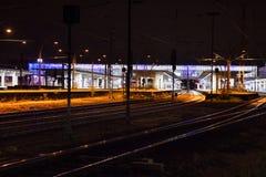 Heidelberg train station during night time Royalty Free Stock Photos