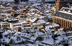 Heidelberg under Snow. The old city of Heidelberg, Germany, in winter Stock Image