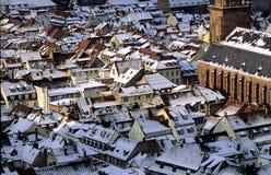 Heidelberg unter Schnee Stockbild