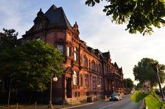 Heidelberg urząd miasta w zmierzchu świetle Zdjęcie Royalty Free