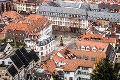 Heidelberg van hierboven Stock Afbeelding