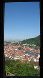 Heidelberg View. From the terrace of Heidelberg Castle one has a magnificent view over the old town and the Rhine valley Stock Photo