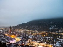 Heidelberg in the winter royalty free stock image