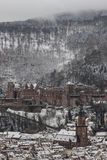 Heidelberg in winter Royalty Free Stock Photo