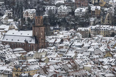 Heidelberg in winter Royalty Free Stock Images