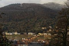 Heidelberg y el río Neckar imagen de archivo