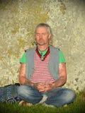 Heiden markieren Autumn Equinox bei Stonehenge Lizenzfreies Stockbild