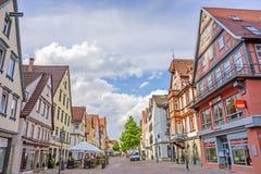 Heidenheim an der Brenz, pedestrian area Royalty Free Stock Photos