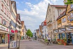 Heidenheim an der Brenz, pedestrian area Royalty Free Stock Photo