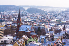 Heidenheim en hiver Photos stock